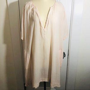 ATM Melillo Dress Oversized Soft Pink Gauzy Flowy